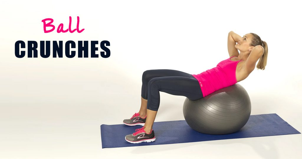 ball crunch exercises
