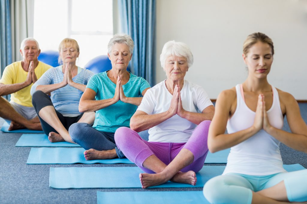 Yoga for seniors and elderly people